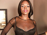 Naughty chocolate Lina just loves jacking off