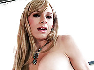 Horny Tara Emory playing with her big fat cock