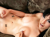 Super hot and seductive tgirl Bailey Jay masturbating