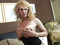 American tranny blonde bombshell Alison Dale