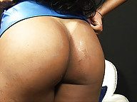 Curvy brazilian shemale strips and teases