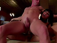 Ts Yasmin Lee fucks white guy in the ass making him cum twice
