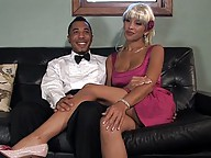 Ts Jessica Host pounds virgin straight guy as cums on him, sucks his cock, gets her cock suck all the way to her balls.