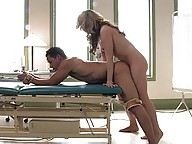 Ts Kelly Shore fucks a hot muscle with her fat cock