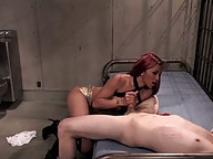 Hot tranny sucks dick and fucks guy in jail.
