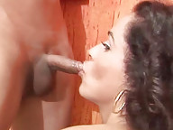T-girls give each other oral pleasure