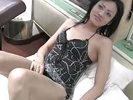 Cute ladyboy handles her fat girl pole
