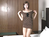 Asian tranny strips and shows shecock