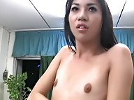 Two hot ladyboys play with their sheococks