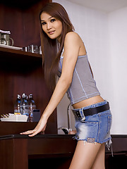 Ladyboy in denim