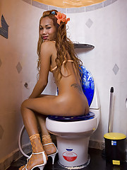 Tgirl the on potty