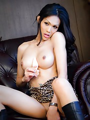 Ladyboy Alis with plug