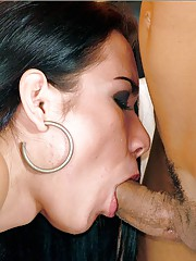 Screaming as another tgirl fucks her ass