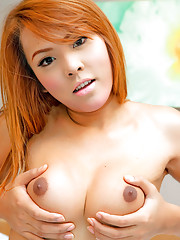 Adorable shemale babe Som unleashes her neat cock