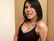 Horny ladyboy wants to cum in your mouth
