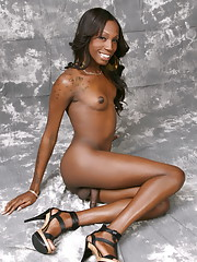 Lovely Tameka posing her huge juicy chocolate dick