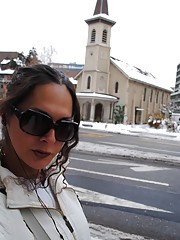 Naughty transsexual Nicole in Europe