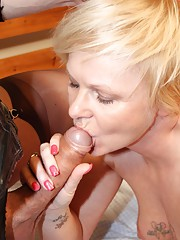 Horny tgirls Nikki and Zoe banging a woman