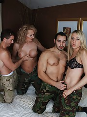 Sweet Alison Dale fucking in a hardcore foursome