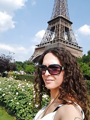 Seductive transsexual on a trip in Paris