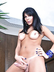 Hot transsexual Marcella showing her huge hard cock