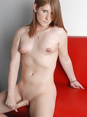 Seductive Amy Daly stripping and posing