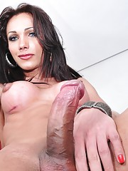 TS sweetie Leticia exposing her hard fat dick