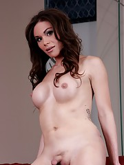 Adorable brunette Brooke showing her hot dick