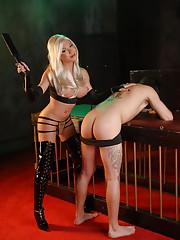 Stunning TS Mia Isabella playing with her slave