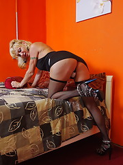 Naughty maid Olivia Love having fun at work