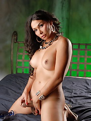 Super hot TS Vaniity getting naughty on the bed
