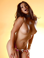Cute brunette Vaniity showing her tight ass and yummy cock