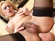 Transsexual Melissa getting fucked deep and hard