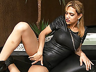 Horny Tayna playing with her juicy hard cock