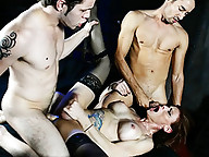 Dirty TMILF Jasmine getting banged by two studs