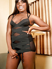 Black tgirl with a huge shecock!