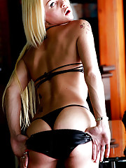 Hot blonde tranny who is total bottom