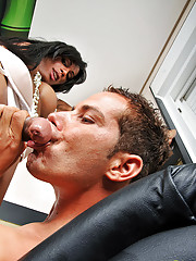 Mega cock tranny bangs a guys tight ass