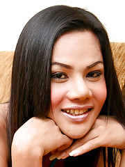 Horny ladyboy plays with she-cock