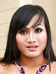 Cute ladyboy babe strips