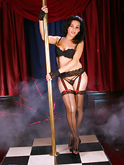 Amazing Jaquelin stripping and pole dancing