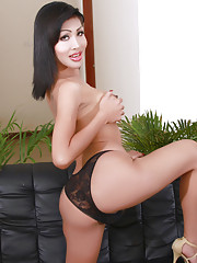 Brunette sweetie Tanya stripping and posing