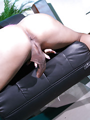 Exotical transsexual Tanya strips and poses