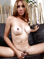 Exotic transsexual Fern strips and poses