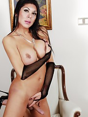 Beautiful brunette Andrea posing her hot body