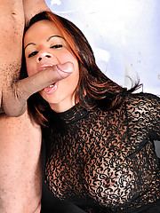 Shemale bent over and taking big cock