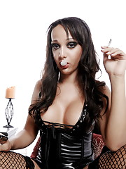 Gorgeous Sunshyne smoking a cigarette