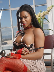 Ebony hotness Sheeba Starr stripping and posing