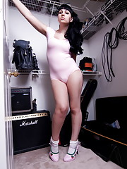 Tempting Bailey Jay stripping & posing in the closet