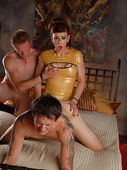 Horny Jasmine Jewels banging in a crazy 3some